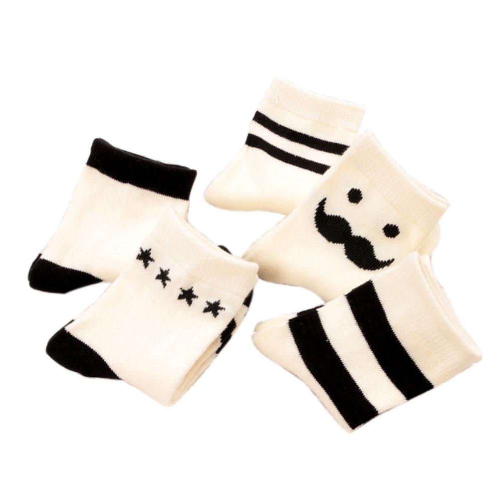 5 Pair Cotton Blends Baby Socks New Fashion Newborn Floor Socks Baby Enfant Children Socks