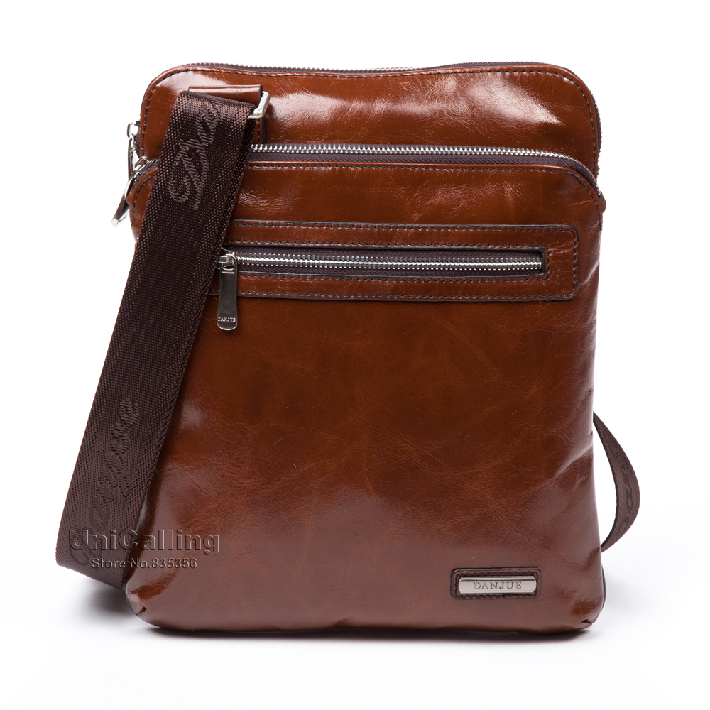 New Arrival brand men leather messenger bags fashion luxury Oil Wax real cow Leather men shoulder bag real leather man bag<br>