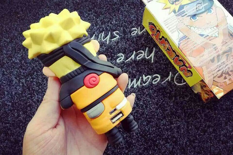 Real 4400mAh Power Bank Cool Cartoon Naruto Uzumaki Sasuke Portable Mobie Phone Charging