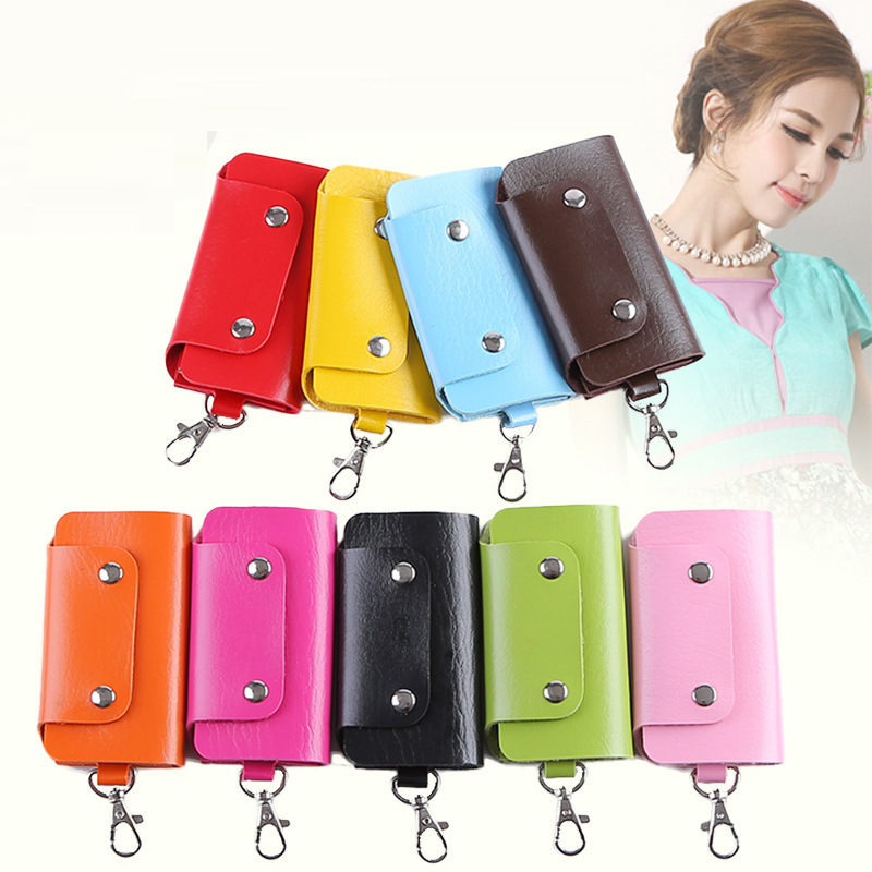 2016 new gadgets Keys holder Organizer Manager patent leather Buckle key wallet case car keychain for Women Men brand N023<br><br>Aliexpress