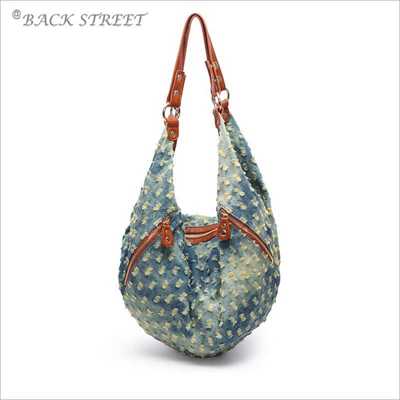 Vintage Style Denim Bag Women's Handbag Shoulder Bag Washed Denim Tote for Lady Female's Jean Bag Bolsas femininas 2015(China (Mainland))