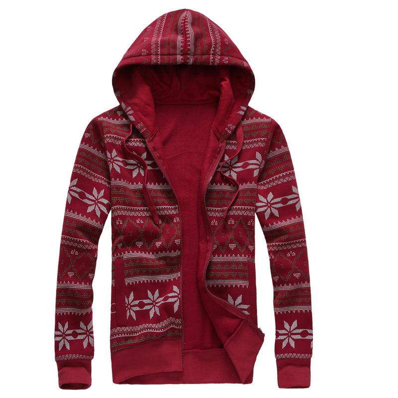 2015new autumn and winter lovers christmas snowflake hooded