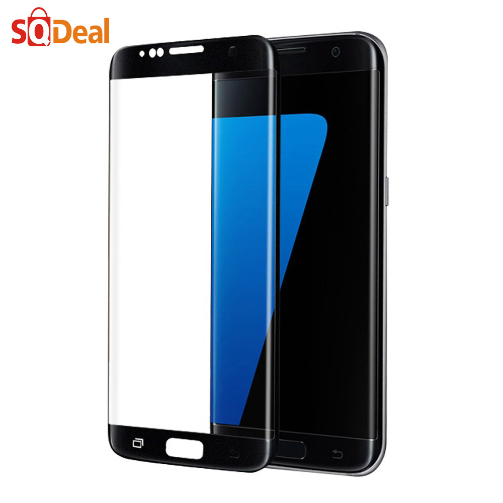 Premium 3D Full Cover Tempered Glass Screen Protector For Samsung Galaxy S6 S7 Edge Safety Protective Film Retail and Wholesale(China (Mainland))