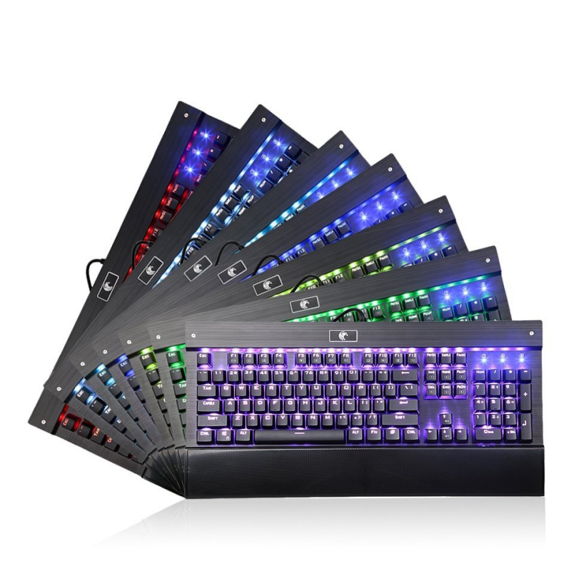 REDRAGON MechanicalEagle Z-77 RGB Backlit 104 Keys Mechanical Gaming Keyboard with Blue Switches(China (Mainland))