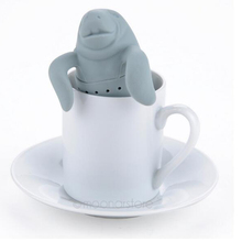Buy Teapot Cute Manatee Shaped Infuser Tea Strainer Coffee & Tea Sets Silicone Manatee Tea Infuser spice filter for $1.41 in AliExpress store