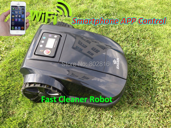 WIFI App Smart phone Control electric lawn mower robot with 500m virtual wire,500pcs pegs, Water-Proofed Charger More safer(China (Mainland))