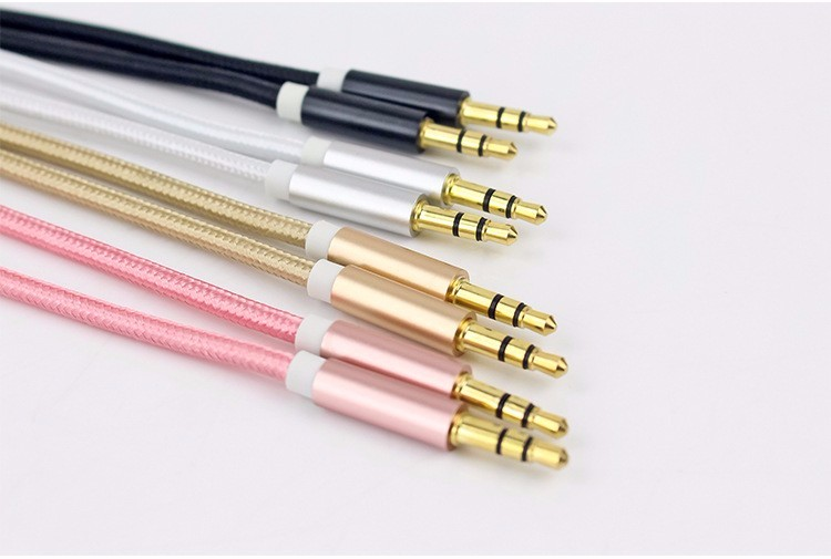 HKkais 3.5mm jack audio cable 3.5mm male to male flat aux cable for car / PM4 PM3 / headphone aux cord