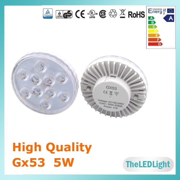 LED Cabinet Light LED Gx53 Bulb SMD 5730 5watt 110V 220V 480lm Gx53 Bulb CE Rohs FCC Approved  GX53 LED Lamp(China (Mainland))