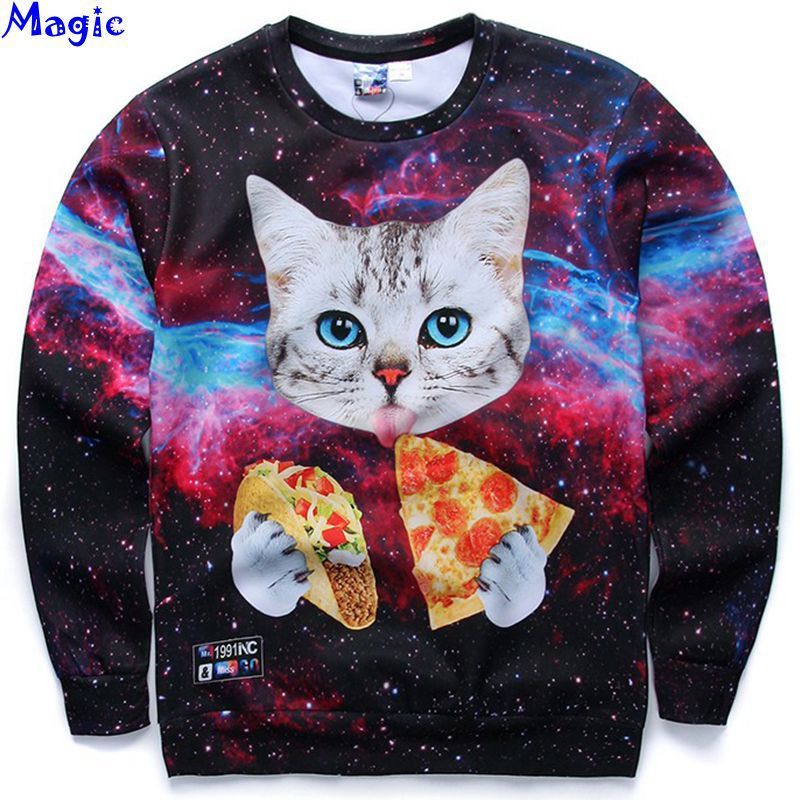 [Magic] 2015 Newest style 3d sweatshirts for Women both side print tiger/lady/Cat sweatshirt top hot thin style hoodies 21colors(China (Mainland))