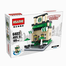 8 Sets New Hsanhe Scene Mini Building Blocks street Toys Architecture Nanoblocks Brinquedos Kid Educational Toy Compatible legoe(China (Mainland))