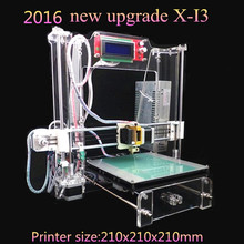 Prusa i3  XI3 size 210*210*210mm High Quality Precision Reprap  DIY 3d Printer kit with 8GB SD card and LCD