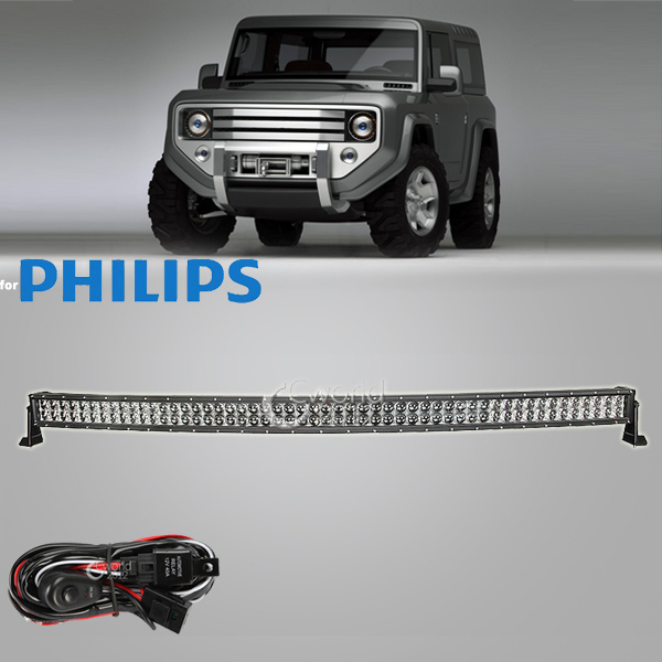 55 Inch 520W Offroad for Philips Curved 4D LED Work Light Bar 12V Spot Flood Combo Beam 4x4 Truck Trailer ATV Car Roof Headlight(China (Mainland))