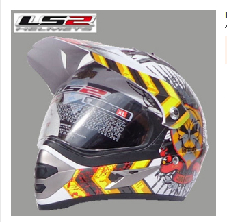 International Brand LS2 MX433 dual lens motorcycle helmet off-road racing helmet off-road dual helmet, free shipping!(China (Mainland))