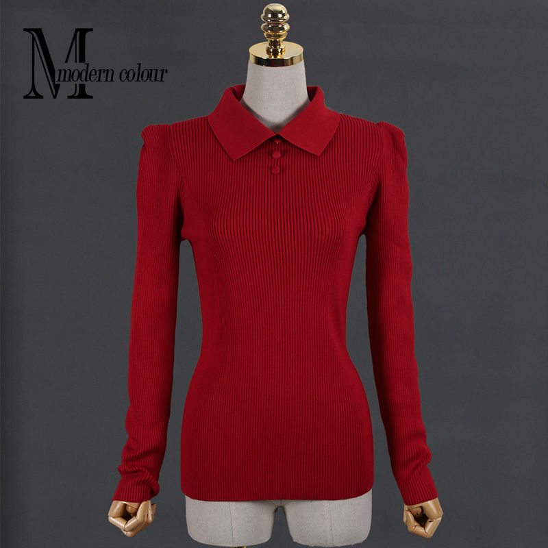Plus Size Women Sweaters And Pullovers Autumn Winter 2016 New Arrival Knittted Sweater Ladies Christmas Sweater Red Black White(China (Mainland))