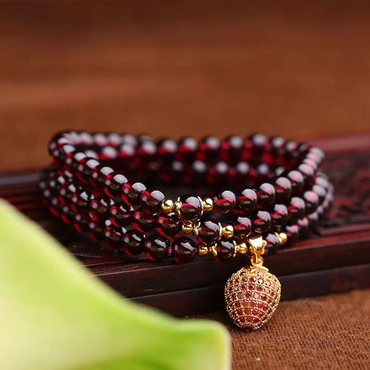 Womens stone natural wine red garnet micro set small strawberry suitable for small girls you<br><br>Aliexpress