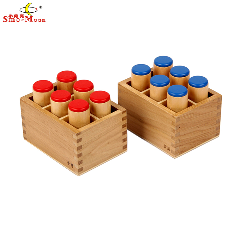 Tactile Learning Toys : Sound boxes montessori math teaching aid wooden toys early