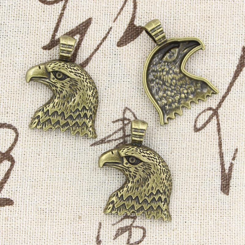 Wholesale 30pcs Charms eagle hawk 33*29mm Antique,Zinc alloy pendant fit,Vintage Tibetan Bronze,DIY for bracelet necklace(China (Mainland))