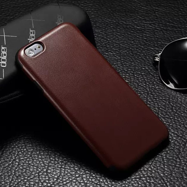 Case Apple iPhone 6 6G Mobile Phone Bag Back Cover Cases Luxury Genuine Leather + Soft TPU Black,Brown,Pink,Red - Shenzhen MaySun Electronic Co. , Ltd store