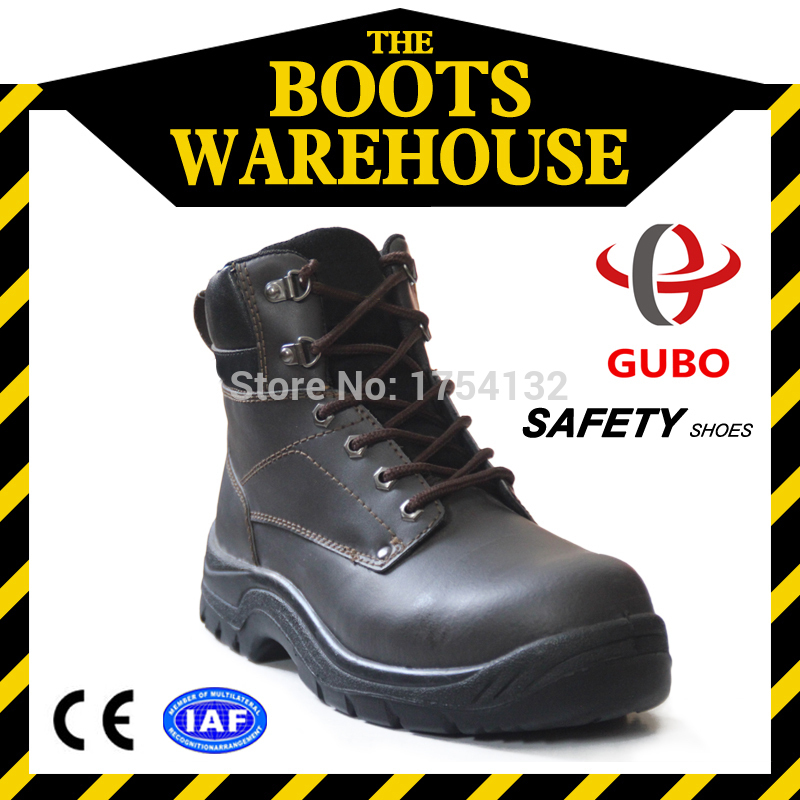 New Arrival Outdoor Waterproof Men Protect Steel Toe Work Safety Boots Anti Smashing Safety Boot Top Leather Safety Shoes Steel(China (Mainland))