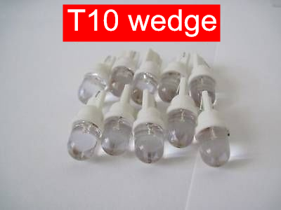 5pairs white blue car led light bulbs 12V LED 168 194 T10 Wedge Instrument Panel Bulb Dome Map Led 1 Round Light Bulbs(China (Mainland))