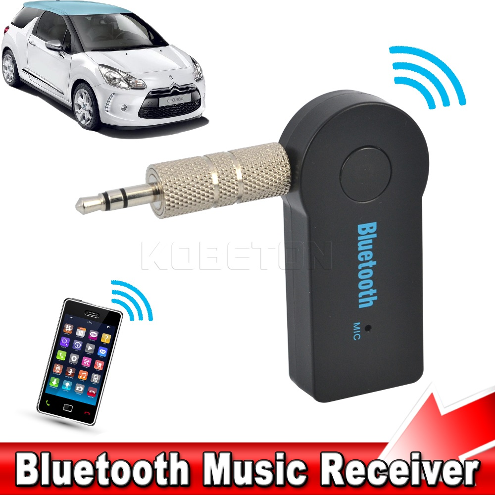 Handfree Car Bluetooth Music Receiver Universal 3.5mm Streaming A2DP Wireless Auto AUX Audio Adapter With Mic For Phone MP3(China (Mainland))