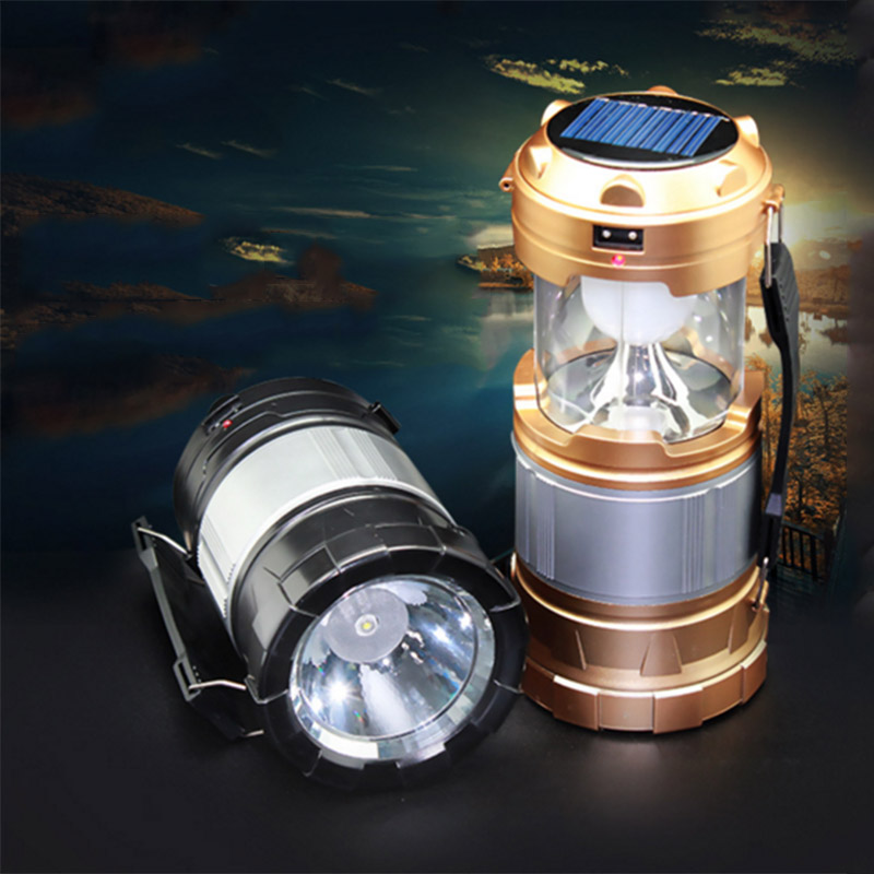 Upgrade Version Outdoor LED Lantern 2 in 1 Portable Solar Power Shockproof Home Garden Light for Hiking Camping Hurricane Outage(China (Mainland))