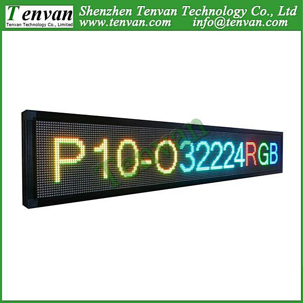 Free shipping outdoor advertising led sign billboard full color with RGB color, high brightness and size 232cm(W)*40cm(H)(China (Mainland))