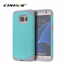 CINHOR(TM) 2 in 1 Rubber Back Phone Covers for Samsung Galaxy S7/S7 Edge Silicon+PC Hybrid Mobile Phone Coque Cases Accessories(China (Mainland))