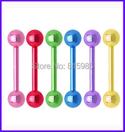 Piercing big wholesale free shipping 210pcs/lot mix 7 color stainless steel tongue barbell rings tongue bar tongue body jewelry<br><br>Aliexpress