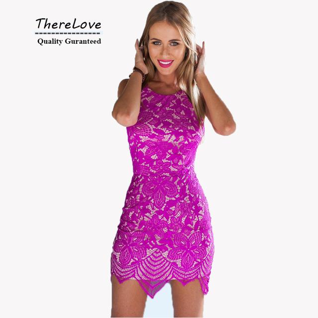 Сексуальные спинку женщины одеваются 2015 о шею рукавов кружевном платье красный выше колена спагетти ремень ну вечеринку clubwear