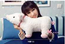 big size lovely plush pig toy pink naughty smile pig toy stuffed doll gift about 55cm