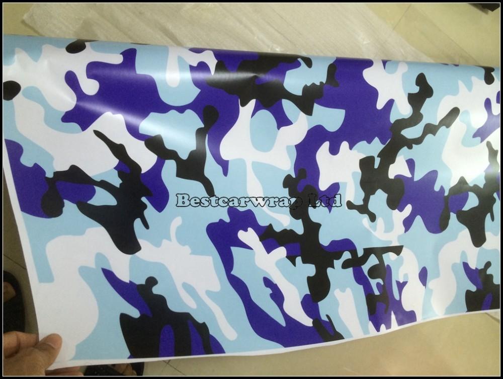 Blue white black camo stickerbomb vinyl car wrap Camouflage sheets PELLICOLA ADESIVA CAR WRAPPING (6)
