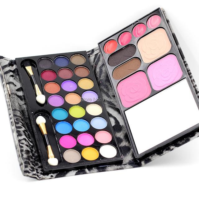 1pcs/lot 24 color Eyeshadow +3 color Blush+4 Lipstick+ 2 Foundation Makeup Palatte Make Up Kit 8827