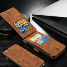 Luxury Genuine Leather Wallet Phone Cover Case iphone 5 5s SE 6 6s Plus Card Slot Magnetic Flip Bag Coque - CoolShopping store