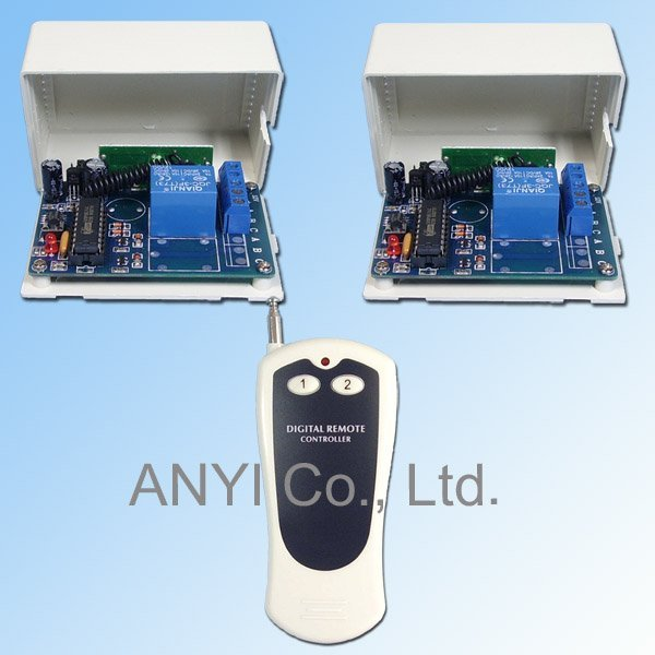 DC12V Relay Toggle Switch,1 Channel/Button RF Wireless Radio Remote Control Switch,Motor Fan TV Light Controller,Wireless Switch