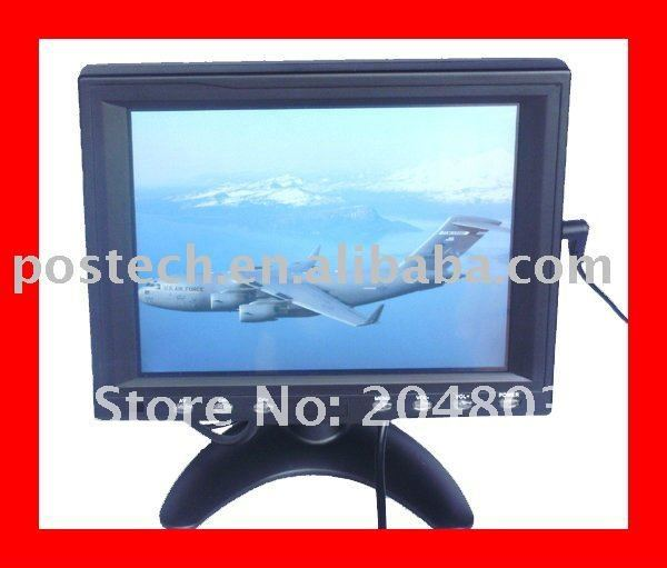 8 inch VGA TFT LCD Touch Screen Monitor with POS Base(Black color)<br><br>Aliexpress