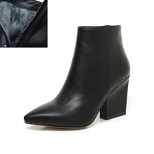 Bonjomarisa Size 32-43 Mùa Đông Mũi Nhọn Cổ Chân Giày Chelsea Boot Nữ 2020 Trưởng Thành Đen OL Boot Nữ Cao Gót giày Nữ(China)