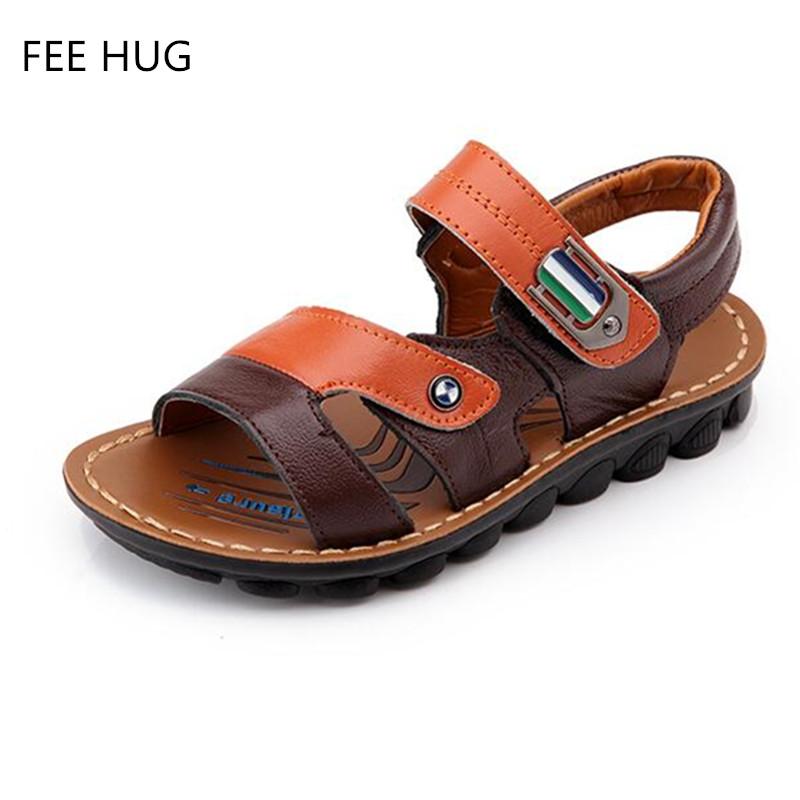 Sandalias del verano del resorte zapatos 2016 de los muchachos de cuero en general los niños zapatos de bebé barato venta al por mayor nuevo(China (Mainland))
