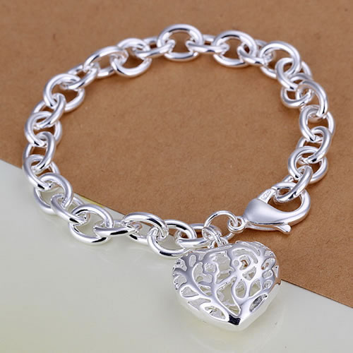 Bracelet 925 Silver Bracelet 925 Silver Trendy Jewelry Bracelet Heart Jewelry Wholesale Free Shipping japa LH269(China (Mainland))