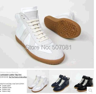 New MARTIN MARGIELA high sports leisure men's shoes Genuine leather sneakers - Lemon shoe ark store