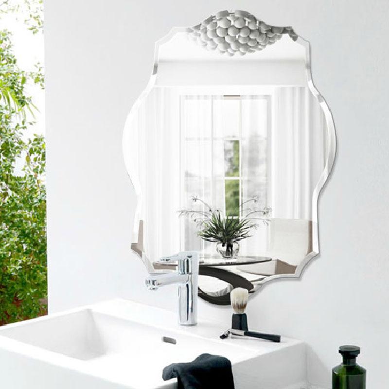 Ba o moda vidrio ultra claro espejo rombo pared del ba o for Precio espejo a medida sin marco