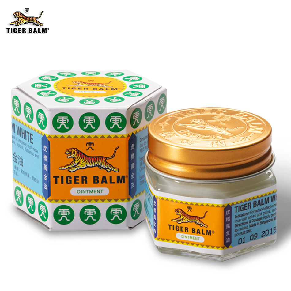 100% Original 19.4g Classic White Tiger Balm Ointment Effective for Headache Running nose Itch Insect stings Muscle Joint aches(China (Mainland))