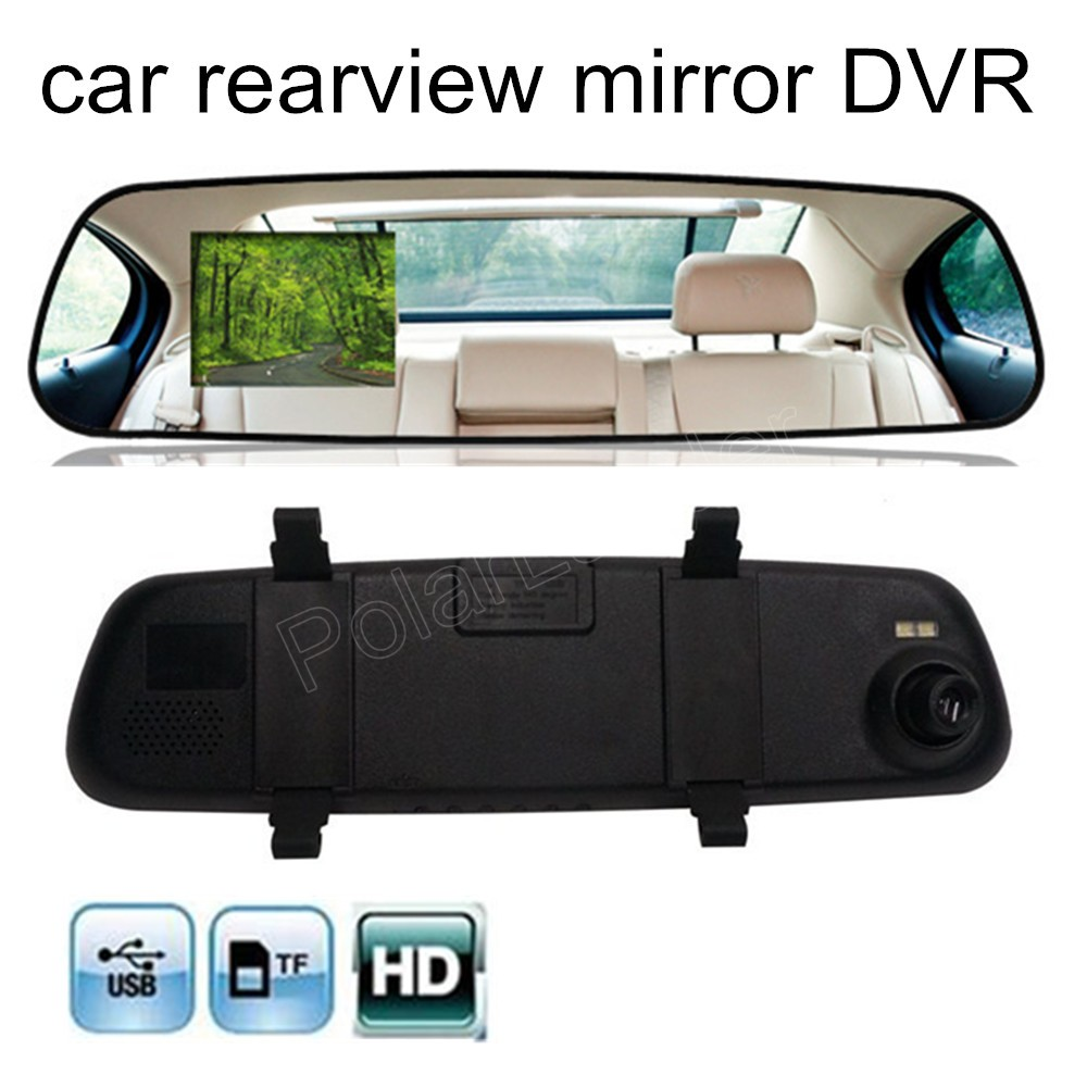 2016 New HD 1080P 2.4 inch Video Recorder Dash Cam Rearview Mirror Car Camera DVR night vision 120 degree wide viewing angle(China (Mainland))