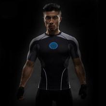 De Manga curta em 3D T Shirt Dos Homens T-Shirt Masculino Tee Capitão América Superman Homens tshirt Camisa De Compressão De Fitness Crossfit MMA Punisher(China)