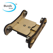 3D printer parts DIY Reprap Prusa Printrbot Adjustable Spool Coaster 3D printer filament holder wooden spool holder