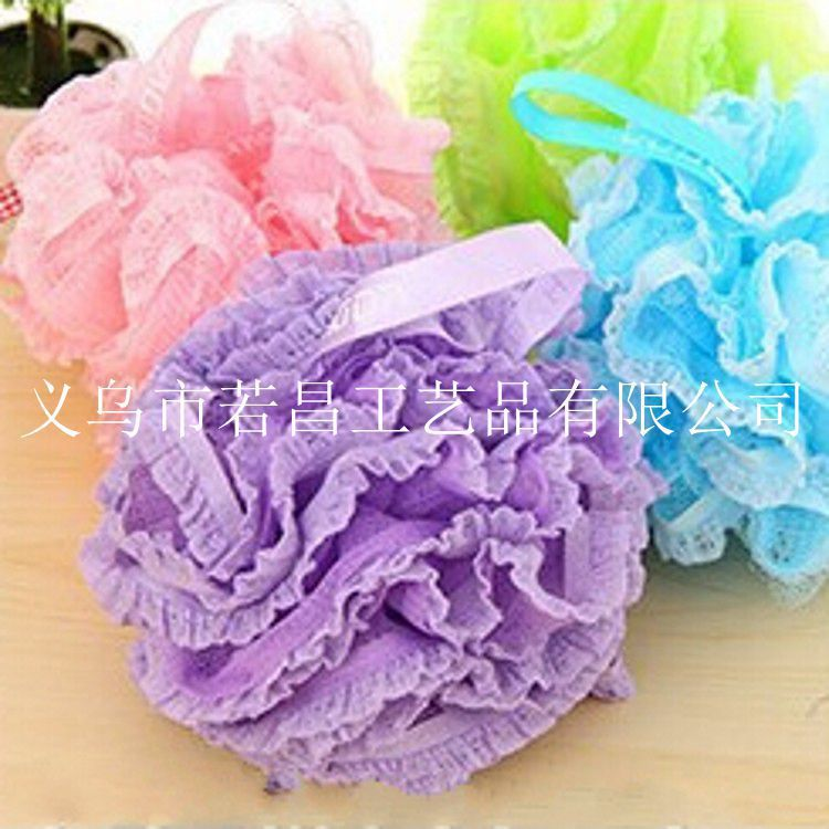 MYL-337 50G 10PCS/LOTS Loofah Flower Bath Ball Bath Tubs Cool Ball Bath Towel Scrubber Body Cleaning Mesh Shower Wash Sponge(China (Mainland))