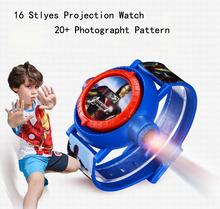 Bandai Ben10 Spider Man Cartoon Kids Watch Photographt Children Digital Watch Girl Boy Projection Watch Elas princess Minions