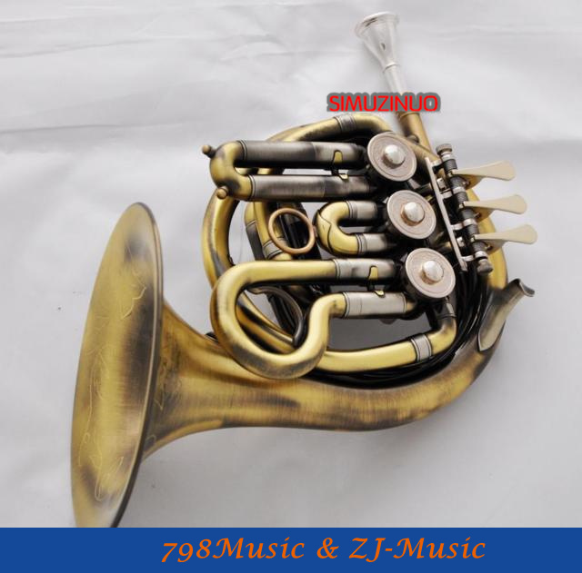 Antique Brass Piccolo Mini French Horn New B-Flat Pocket horn With Case(China (Mainland))