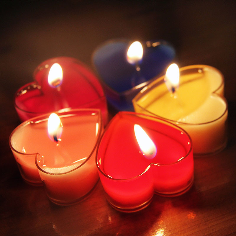 10Pc/Set Heart-shaped Flameless Candles Courtship Courtship Confession Birthday Wedding Romantic Scented Candles Party Candles (China (Mainland))