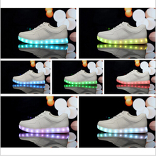 LED luminous shoes men women fashion sneakers USB charging light up sneakers for adults colorful glowing leisure flat shoes(China (Mainland))